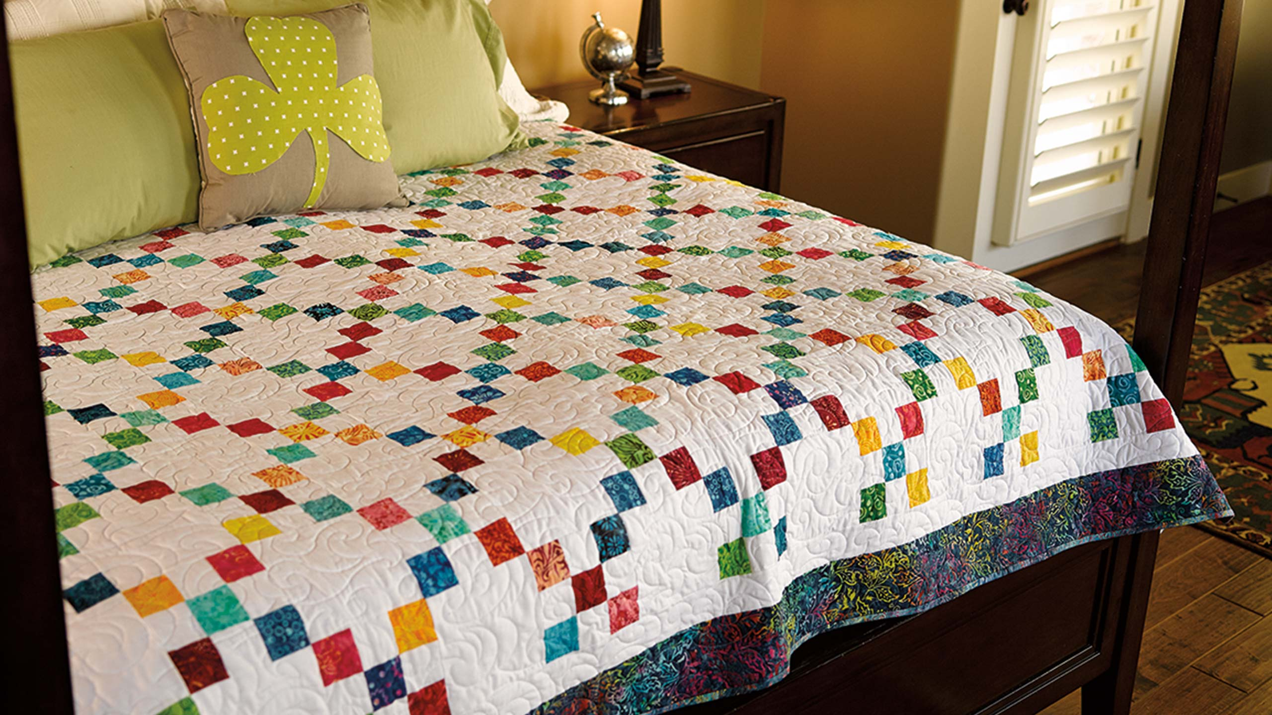 85e22398 Irish Chain Quilt — Quilting Tutorials
