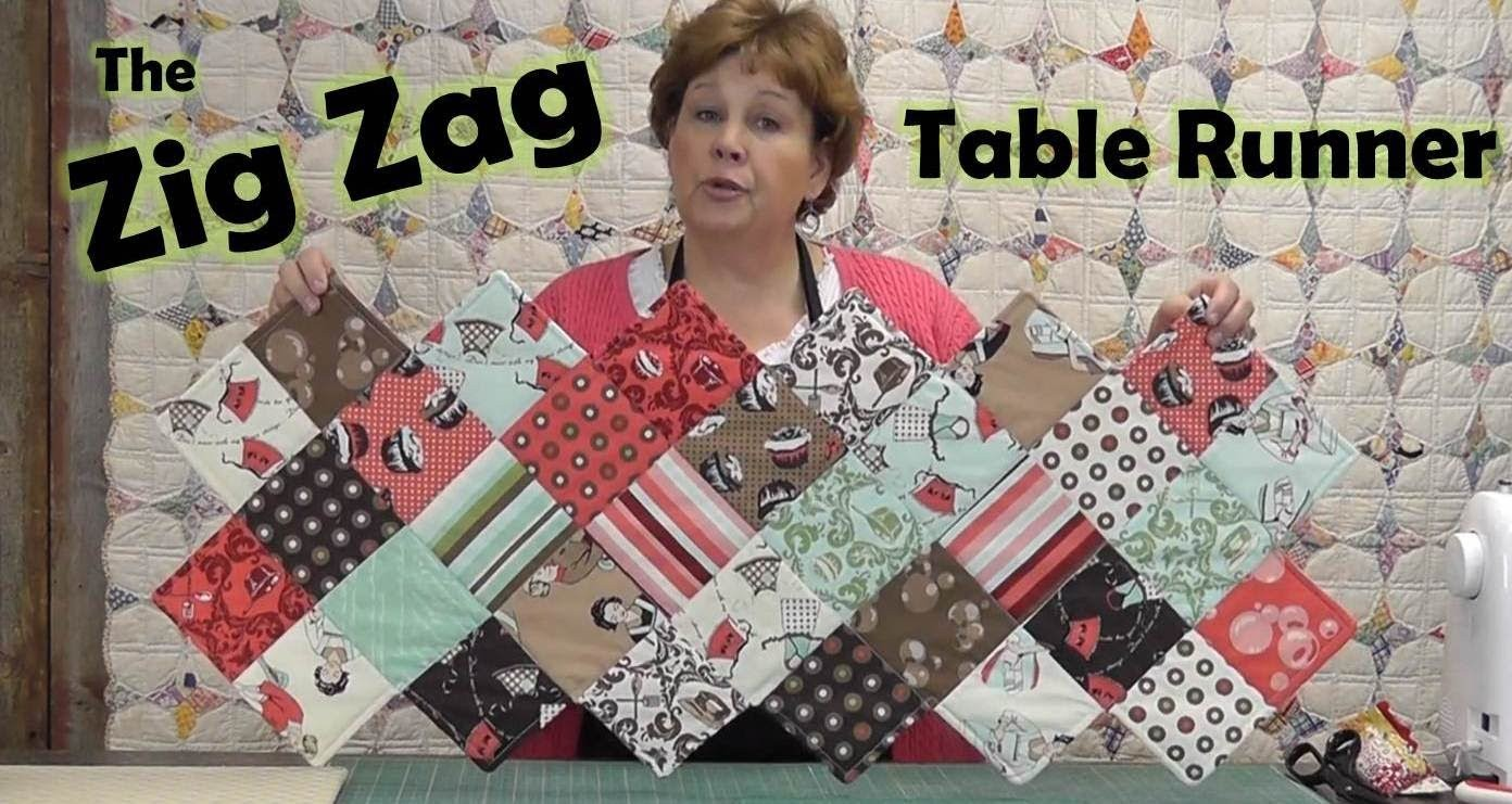 Zig Zag Charm Pack Table Runner Quilting Tutorials