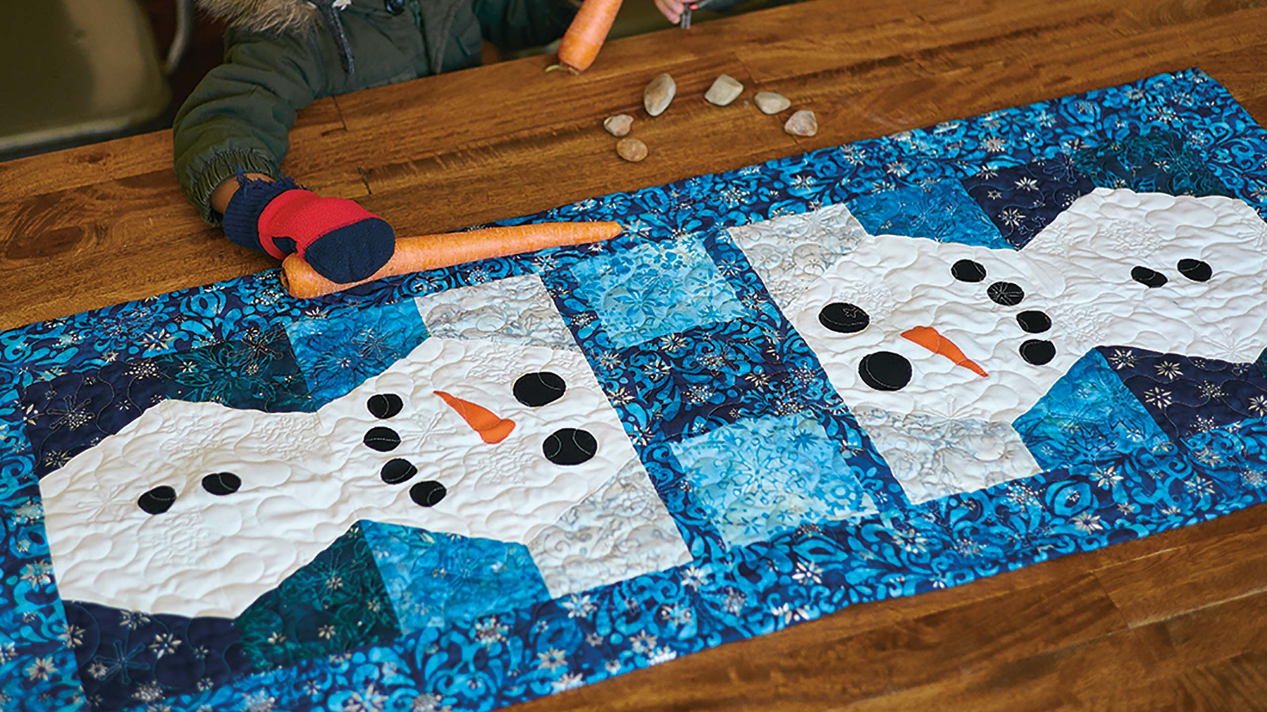 Snowman Table Runner Tutorial Quilting Tutorials