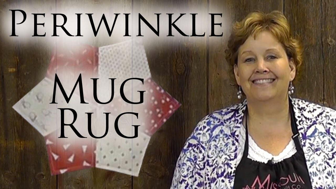 periwinkle mug rug tutorial quilting tutorials