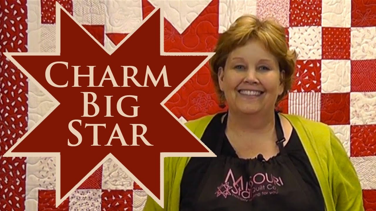 Big charm star quilt quilting tutorials big charm star quilt play video baditri Choice Image