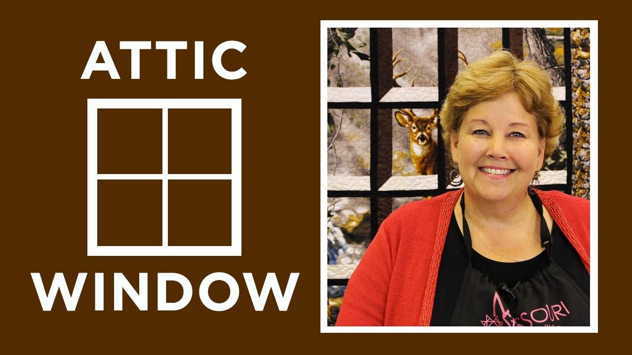 Attic Windows Quilt With A Panel Quilting Tutorials