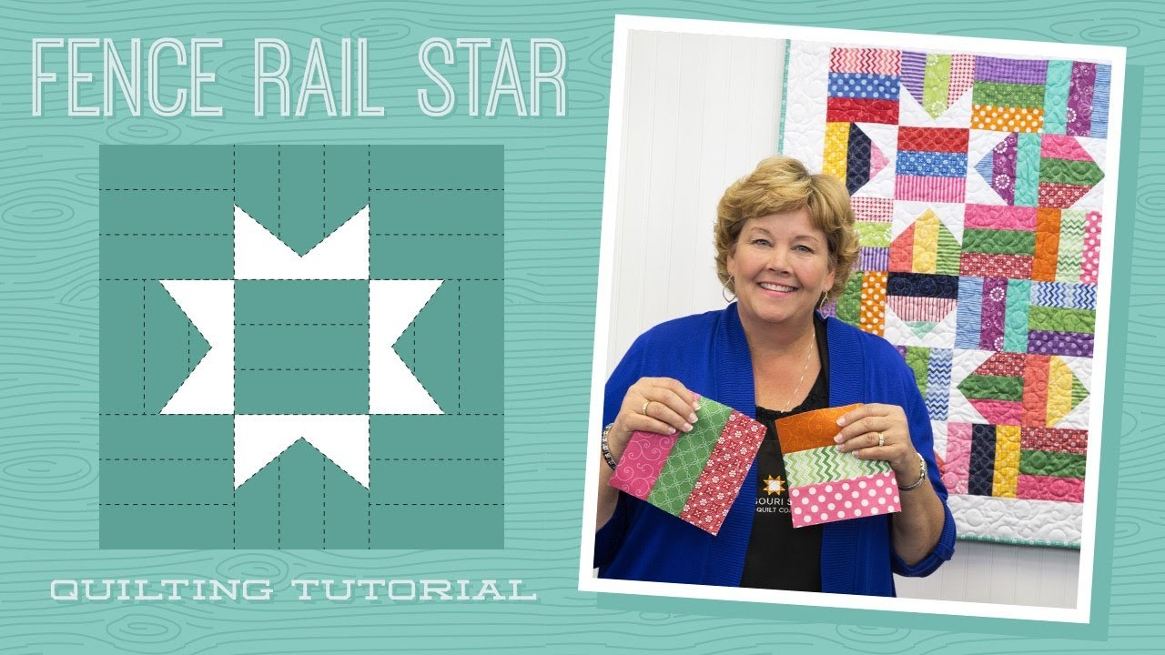Make a fence rail star quilt with jenny quilting tutorials play video baditri Images