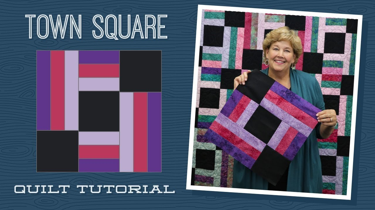 Make A Town Square Quilt With Jenny Quilting Tutorials