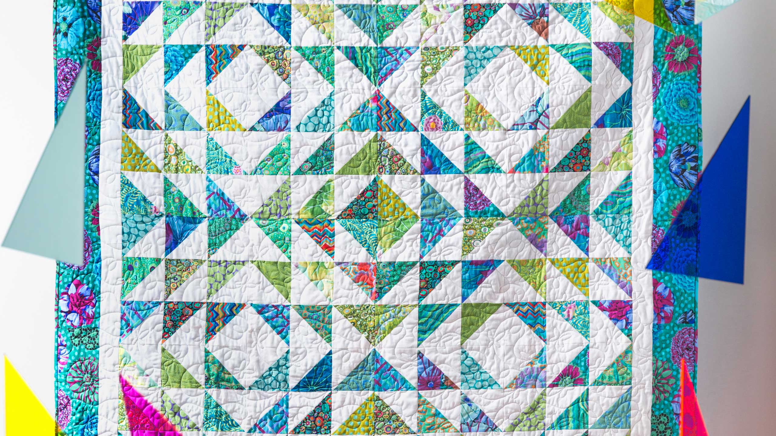 Make A Tranquil Triangles Quilt With Jenny Quilting Tutorials