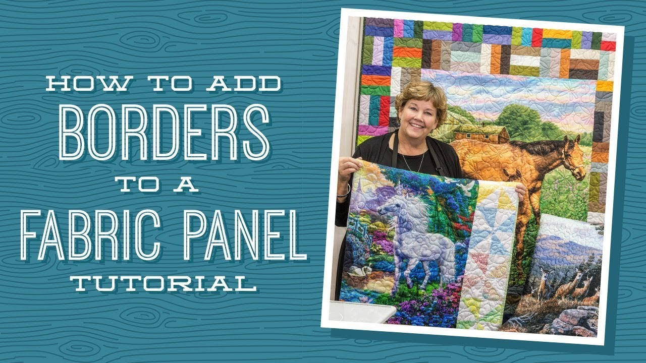 How To Add Borders To A Quilt Panel Quilting Tutorials