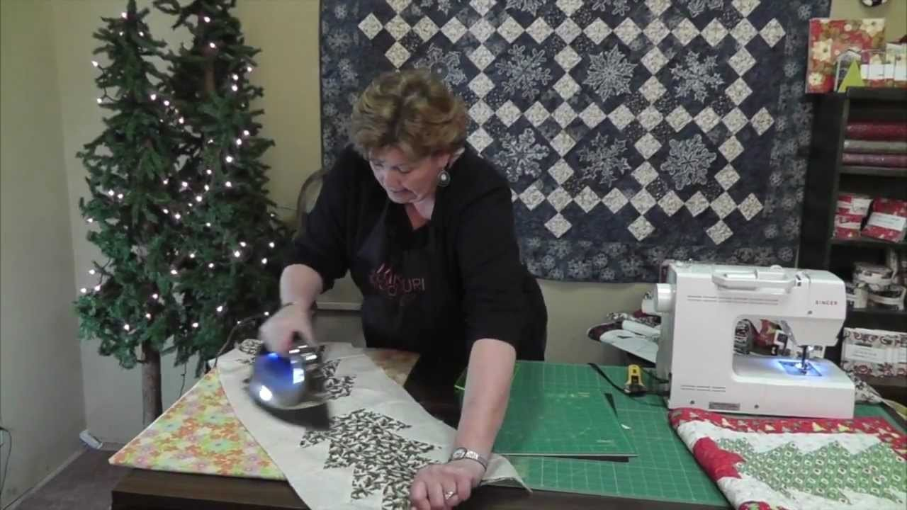 Christmas Table Runner Using The Half Hex Ruler Quilting